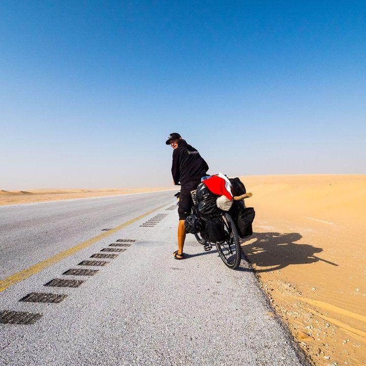 Ešus 3/5/2021: Tadeáš na kole z Ománu do Prachatic