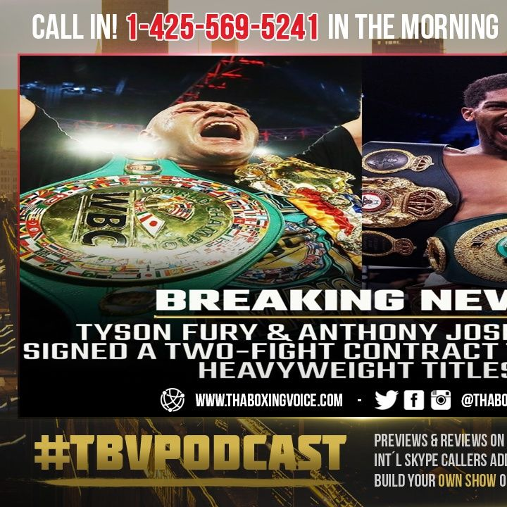 ☎️Tyson Fury, Anthony Joshua Sign Two-Fight Deal to Unify But is It REALLY HAPPENING🧐❓