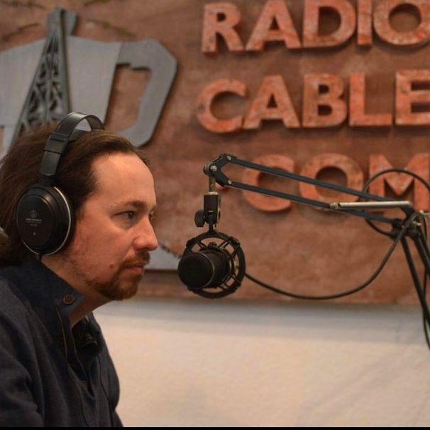 Pablo Iglesias acude al estudio de La Cafetera tras Vistalegre 2