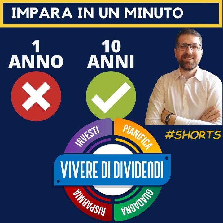PERCHE' E' PERICOLOSO INVESTIRE SU BREVI PERIODI? analisi volatilità di portafoglio #shorts