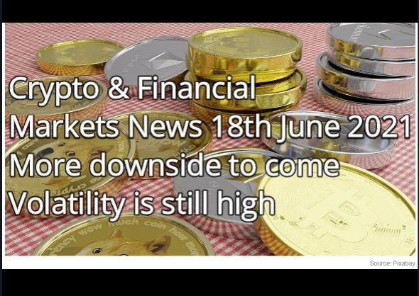 Crypto & Financial  Markets News 18th June 2021 More downside to come Volatility is still high