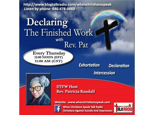 """""""God In A Box, Part 6"""" on Declaring The Finished Work with Rev. Pat"""