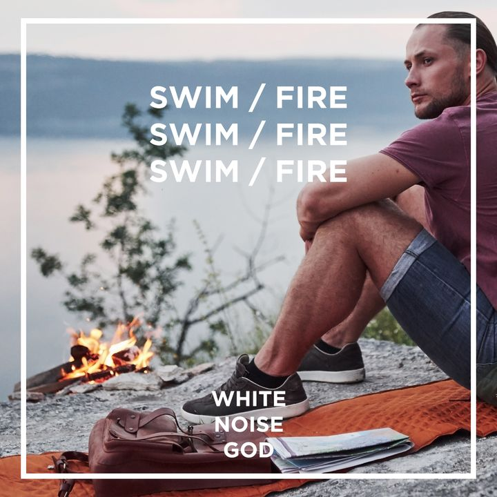 Fire Wood and Swimming | White Noise | ASMR sounds for deep Sleep Better | Relax | Study | Work