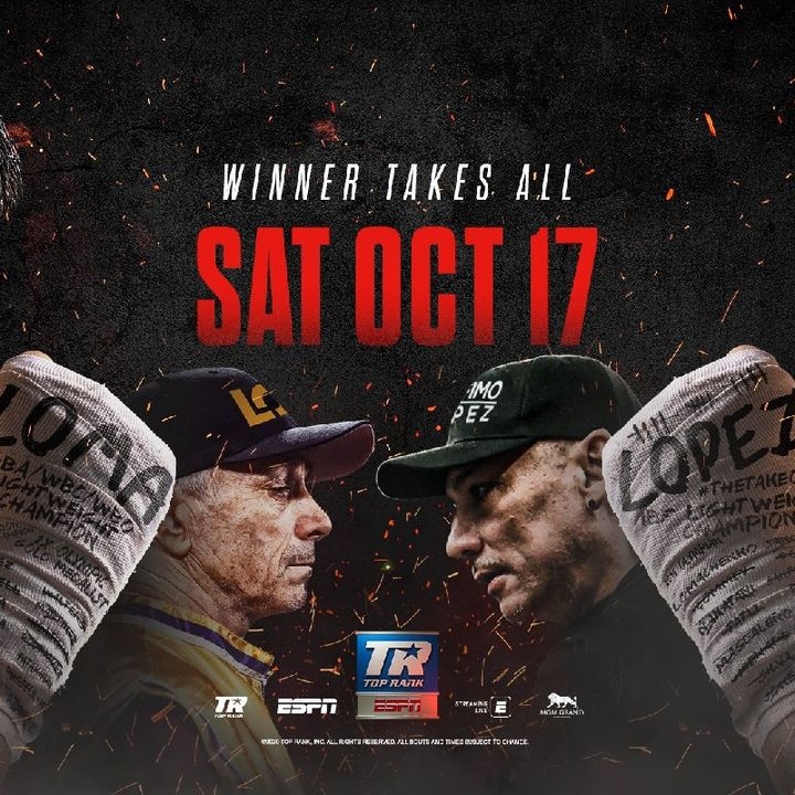Preview Of The TopRank Boxing Undisputed Title Fight Between Vasyl Lomachenko V Teofimo Lopez For All The Lightweight Titles Live On ESPN