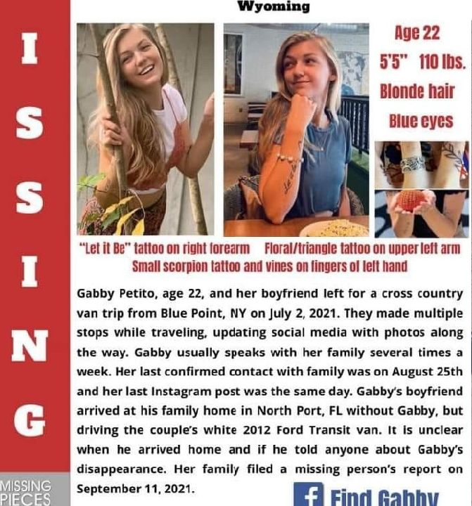 Missing Persons Alert: Gabby Petito
