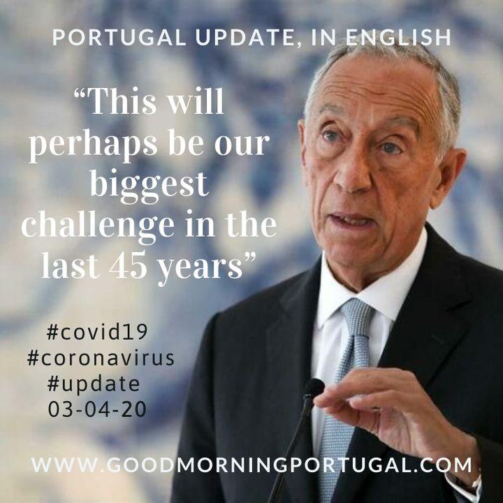 Covid19 Coronavirus Update 03-04-20 (For Portugal, in English)