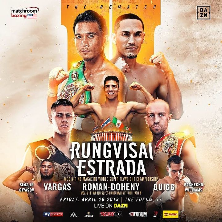 Preview Of DaznUSA Card STACKED! Headlined By Sor Rungvisai vs Juan Estrada For WBC Super Flyweight Title And Stacked Undercard!!