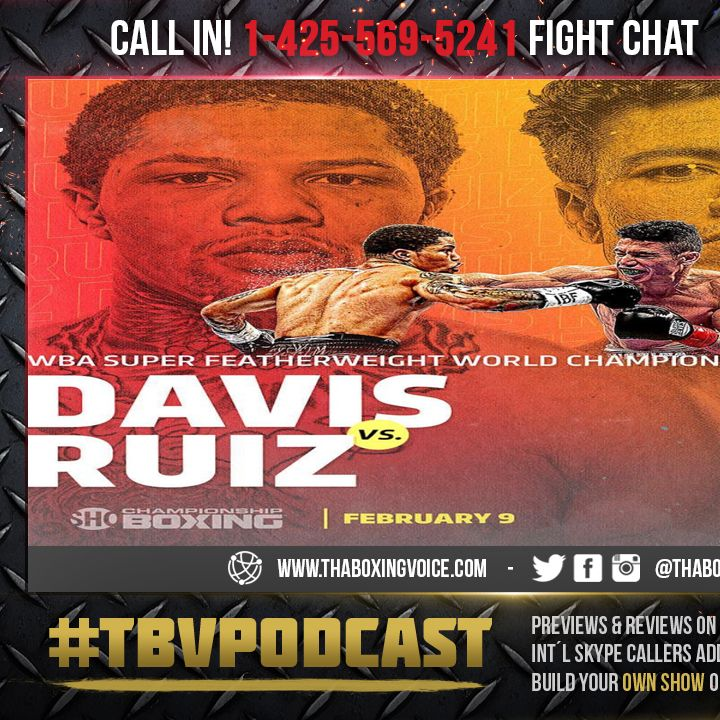"🚨Gervonta ""Tank"" Davis vs Hugo Ruiz😱Live Fight Chat 💭💯🥊🔥"