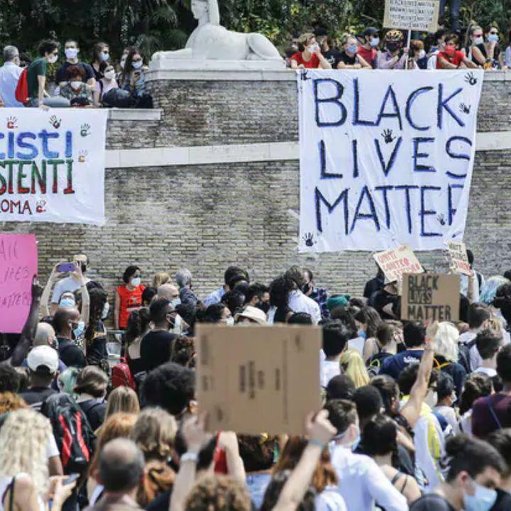Manifestanti contro il Razzismo, come Salvini e la Meloni?