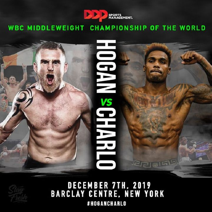 Big WBC World Middleweight TitleFight Jermall Charlo-Dennis Hogan December 7th On PBC!In NY!!