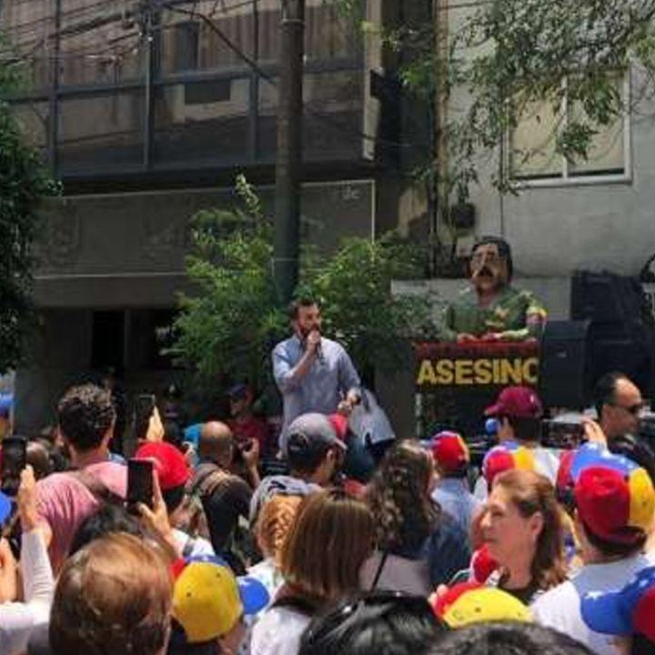 Anuncian venezolanos protestas en la CDMX
