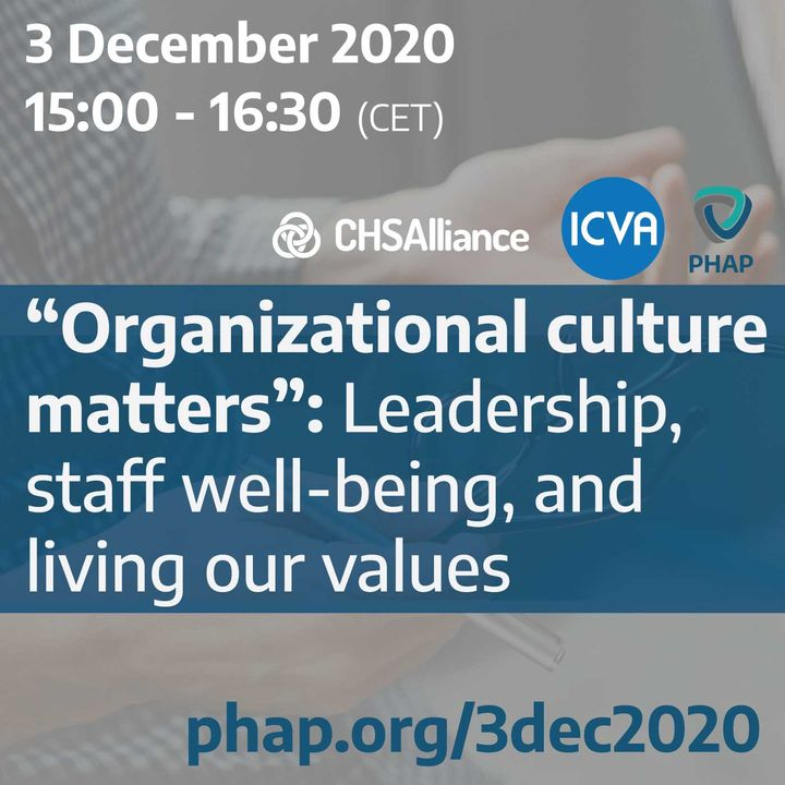 """""""Organizational culture matters"""": Leadership, staff well-being, and living our values"""