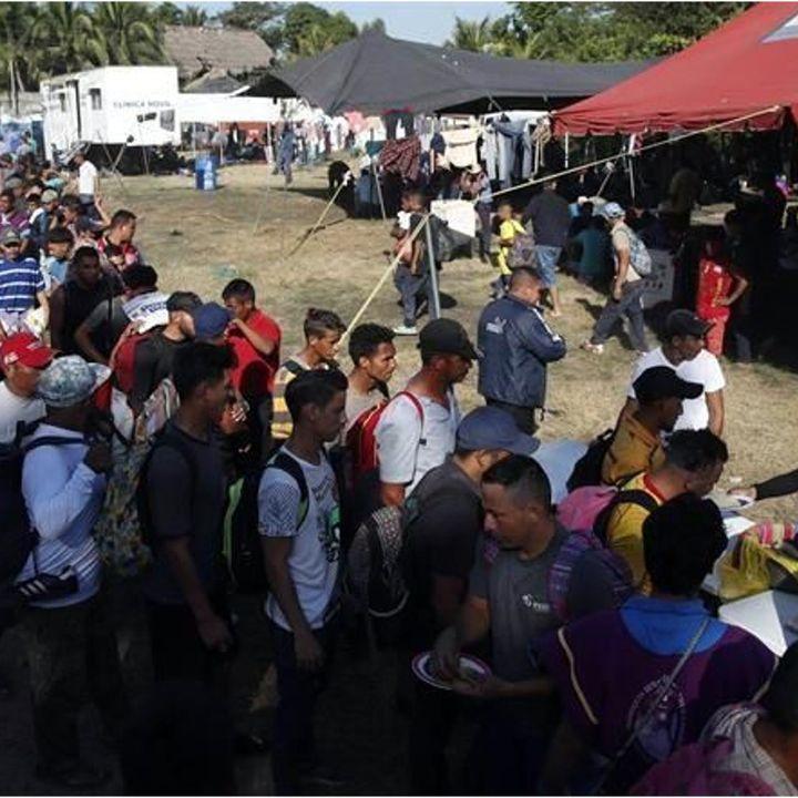 Brindan atención a migrantes centroamericanos