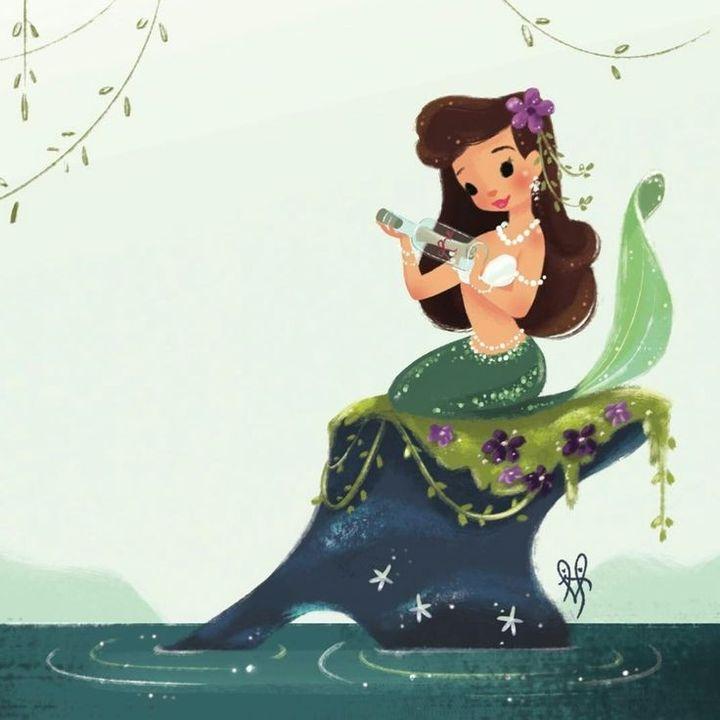 LA SIRENITA 🧜 Ariel la sirenita y Ursula  👩🦰 Cuetos Disney