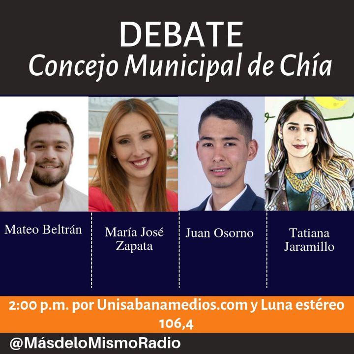 Debate de jóvenes candidatos al Concejo Municipal de Chía, Cundinamarca.