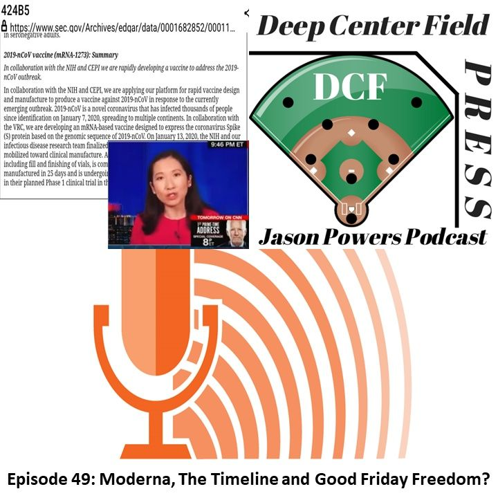 Episode 49: Moderna, The Timeline and Good Friday Freedom?