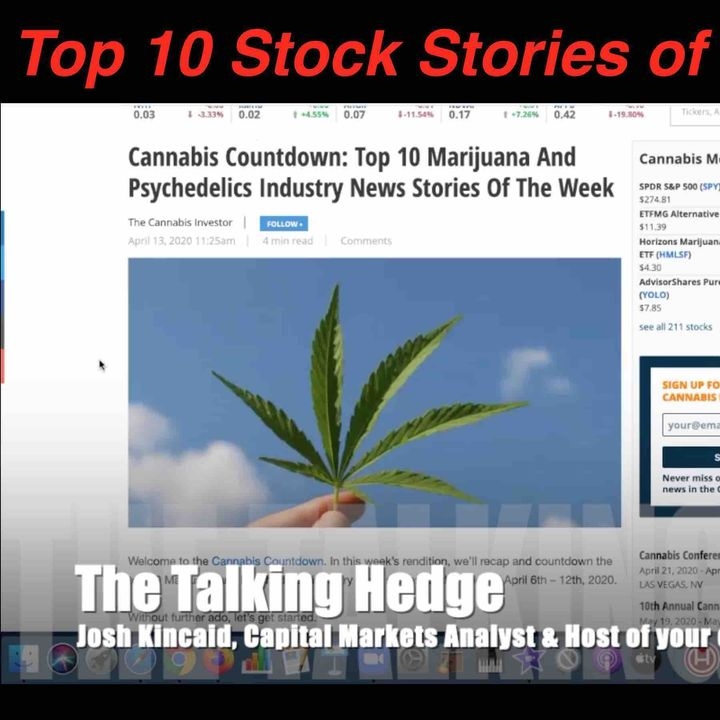 Top 10 Cannabis Stock Stories of the Week (April 13, 2020)