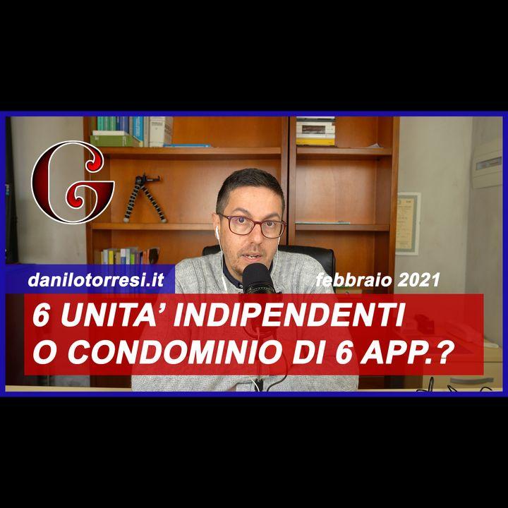 SUPERBONUS 110%: Palazzina con 6 appartamenti indipendenti o condominio minimo?