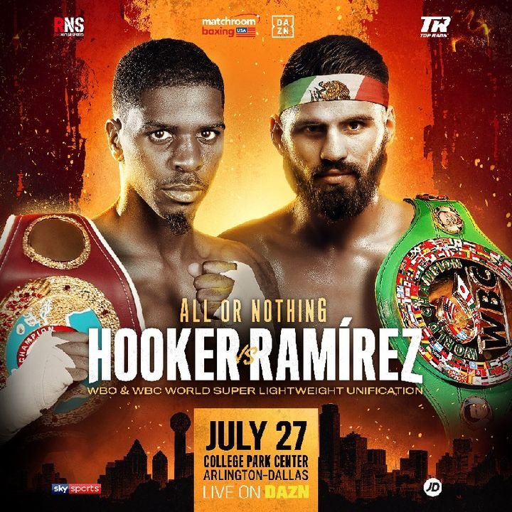 Preview Of The DaznUSA Card Headlined By Jose Ramirez - Maurice Hooker For The WBC And WBO Super-Lightweight Title Also Live On Sky Sport's!