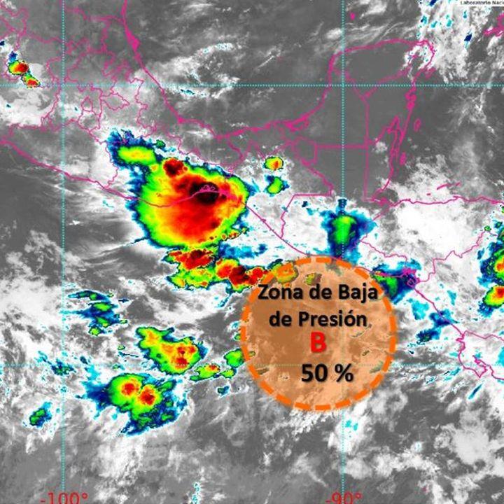 Zona de baja presión genera lluvias en estados del sureste