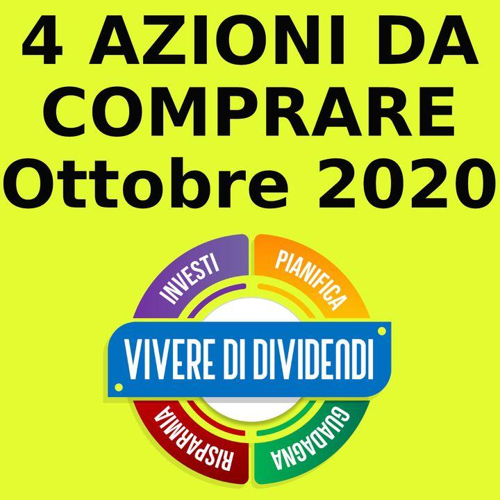 4 AZIONI DA COMPRARE - Ottobre 2020 - investire in azioni - investire in borsa - portafoglio etoro