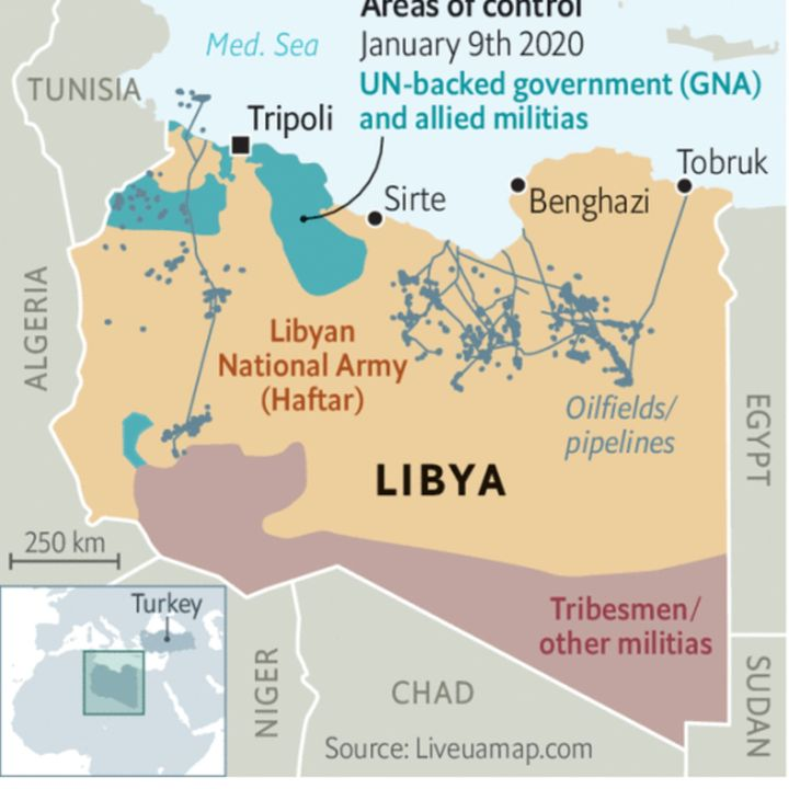 La Libia e gli attori interni e esterni (17gen2020)
