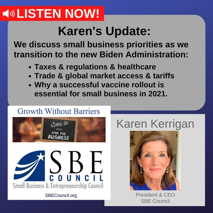 Small business priorities as we transition to the new Biden Administration.