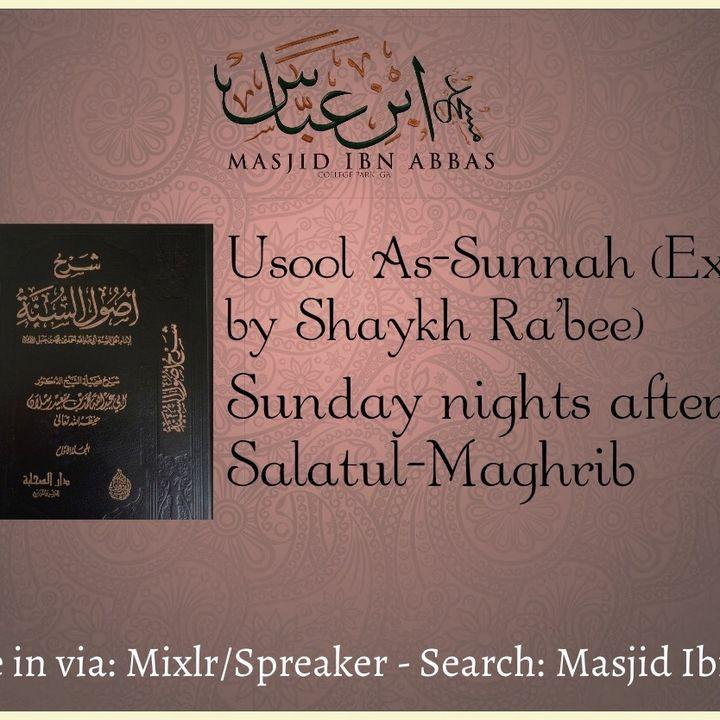 Usool As-Sunnah (Exp. Shaykh Ra'bee)