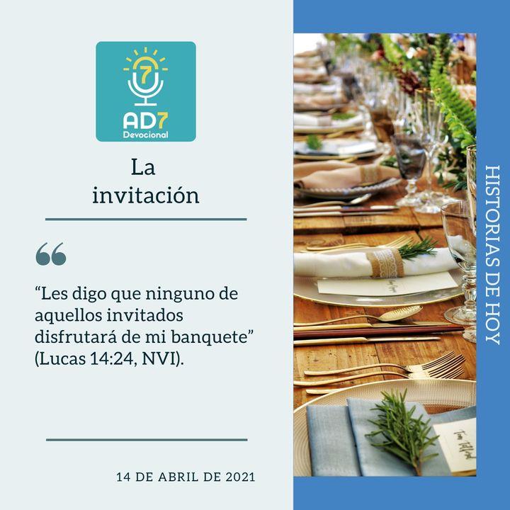 14 de abril - La invitación - Devocional de Jóvenes - Etiquetas Para Reflexionar
