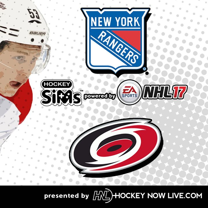 Rangers vs Hurricanes (NHL 17 Hockey Sims)