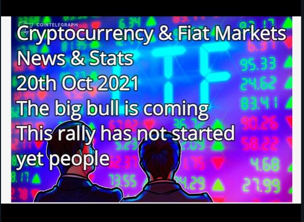Crypto & Financial Markets News & Stats 30th Aug 2021P Just wait