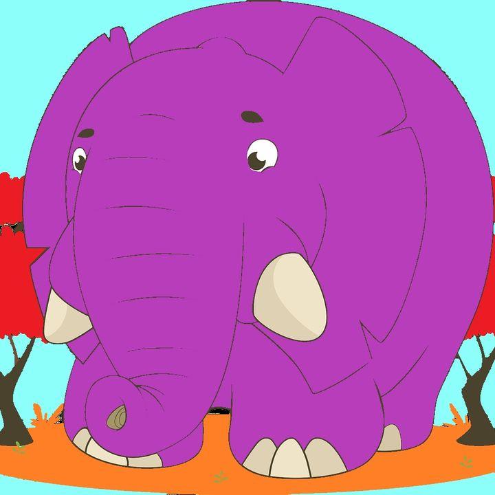 Pinker Elefant
