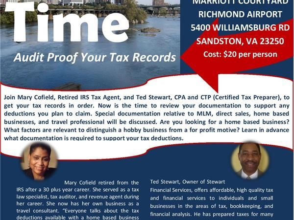 Mary Cofield - Tax Time  - Audit Proof  Your Records