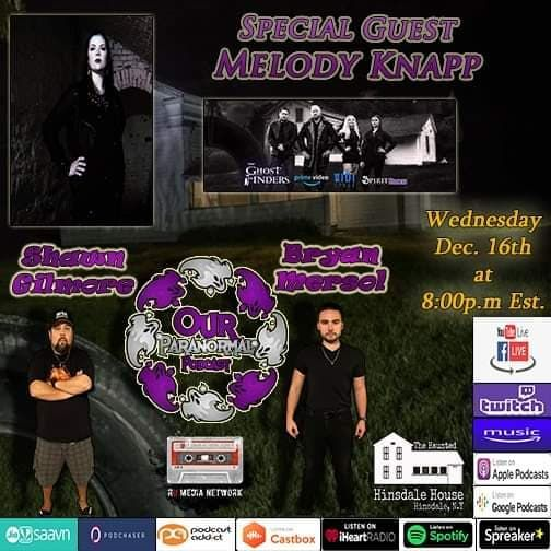 Our Paranormal Podcast w/ Special Guest Melody Knapp