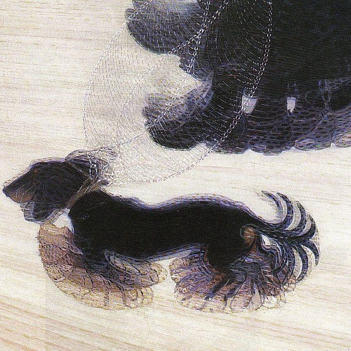 Dinamismo di un cane al guinzaglio Balla