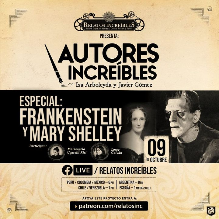 Autores Increíbles 12: Especial de Frankenstein y Mary Shelley