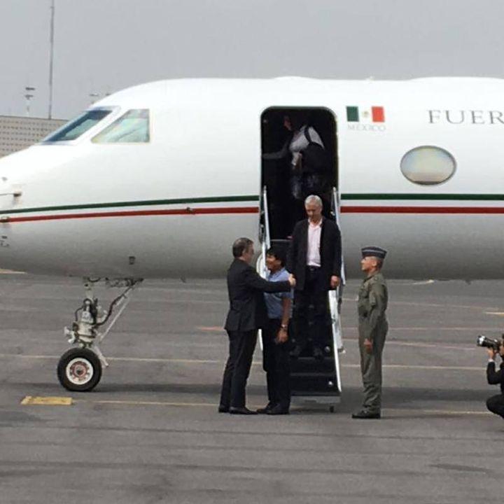 Evo Morales ya está en México