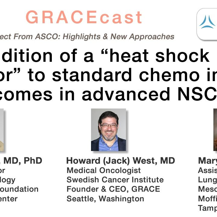 """Can addition of a """"heat shock protein inhibitor"""" to standard chemo improve outcomes in advanced NSCLC?"""
