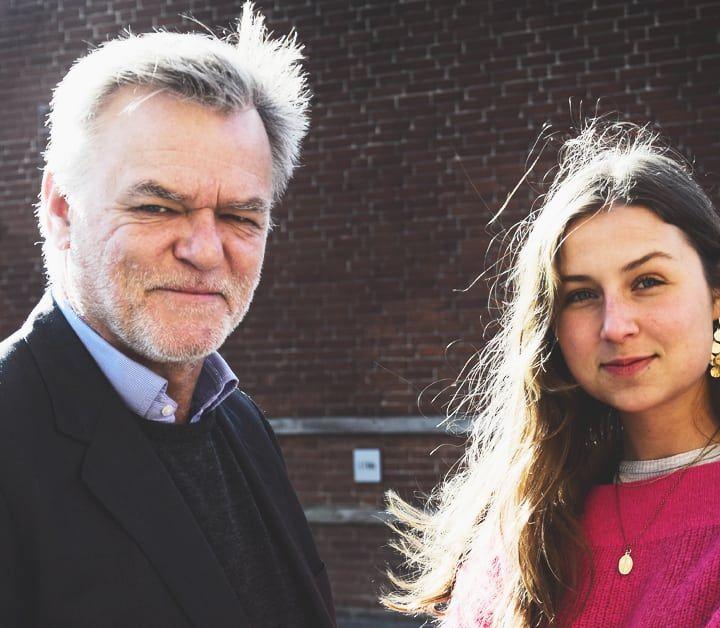 'Når ildsjæle mødes': Sara Mering og Per Mikael Jensen.