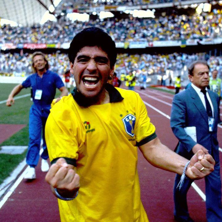 Maradona y la leyenda del Bidón de agua de Argentina y Brasil en el mundial Italia 1990