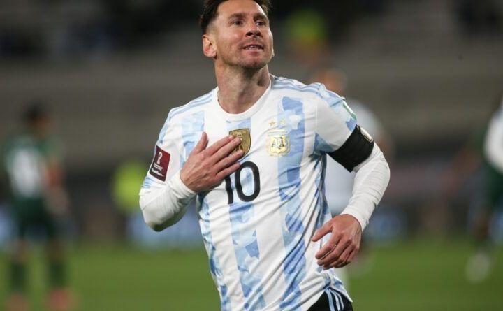 Gol de Argentina: Lionel Messi 3-0