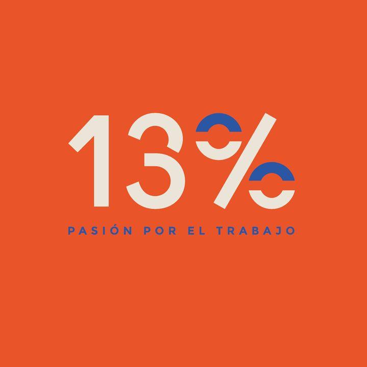 13% Pasión por el trabajo