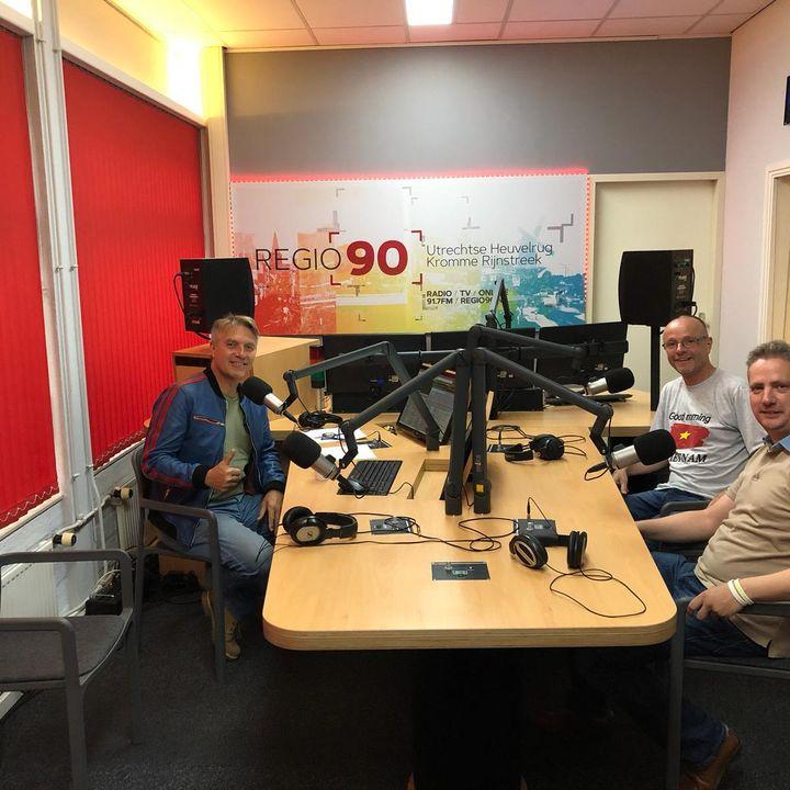 Uitzending 9 Augustus over 75 jaar vrijheid met als gasten Hans vd Boogaard en Frank van Dijk van de Stichting 18 Septembe