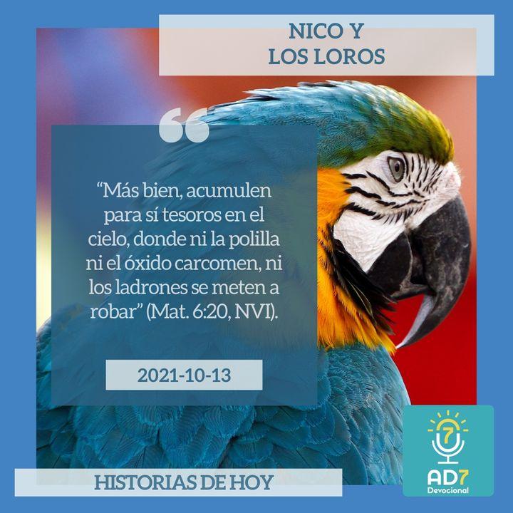 13 de octubre - Nico y los loros - Devocional de Jóvenes - Etiquetas Para Reflexionar