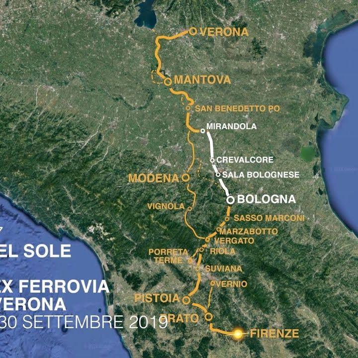 Ciclovia del Sole_46 km in bici sulla vecchia ferrovia da Mirandola a Bologna (e ritorno)