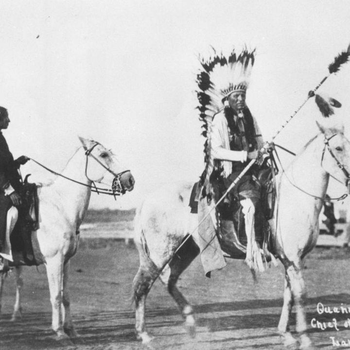 Quanah and the Medicine Man at Adobe Walls