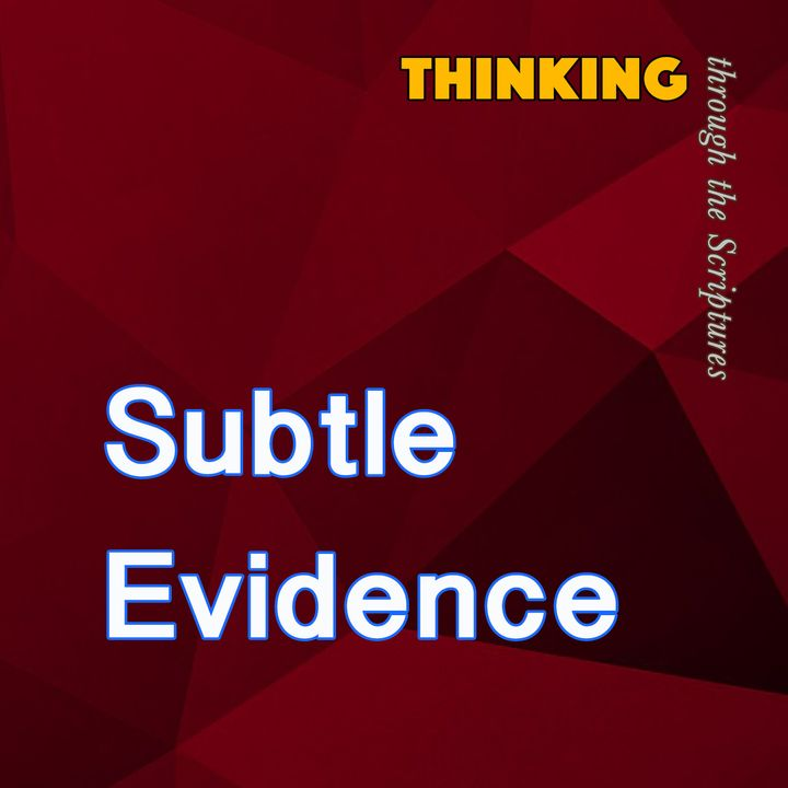 Subtle Evidence (Thinking through the Scriptures #1)