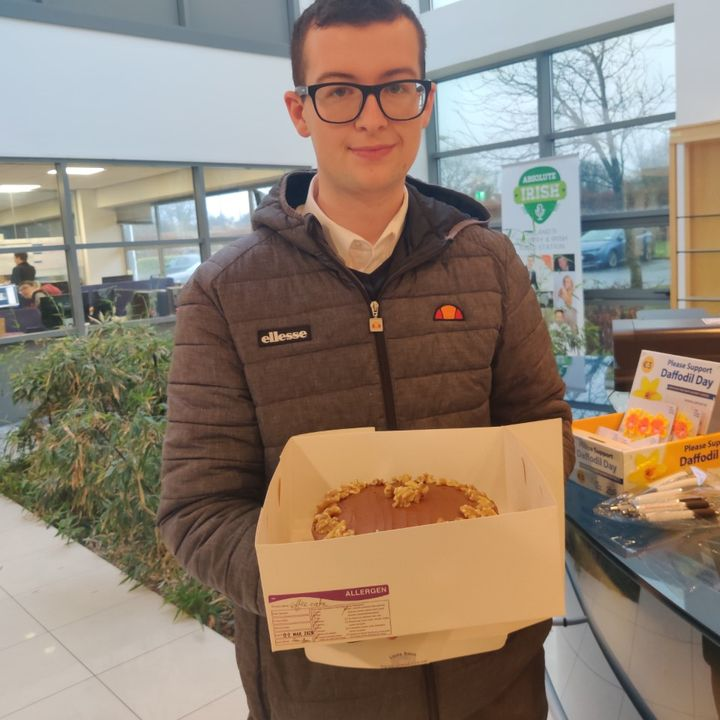 """TY student Liam O'Flynn discusses his company, """"Liams Bakes"""""""