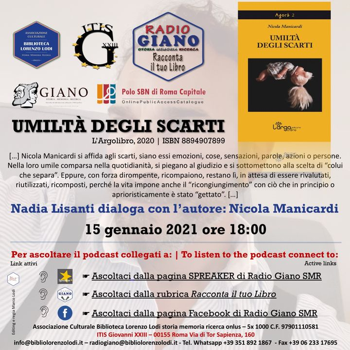 L'ACBLL presenta : Nadia Lisanti dialoga con Nicola Manicardi | Umiltà degli scarti
