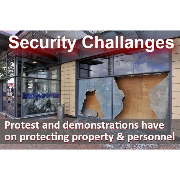 THE CHALLANGES COVID-19, PROTEST & DEMONSTRATIONS HAVE HAD ON SECURING PROPERTY & PERSONNEL